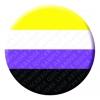 Non Binary Button Pin Badge