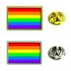 Rainbow Insert Lapel Pin - Rectangle 21x13mm