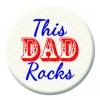 This Dad Rocks Badge