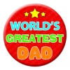 Worlds Greatest Dad Badge