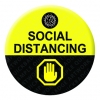 Social Distancing Button Pin Badge