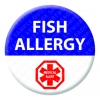 Fish Allergy Alert Badge
