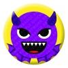 Devil Purple Face Emoji Button Pin Badge