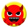 Devil Red Face Emoji Button Pin Badge