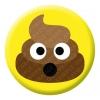 Poop Emoji Button Pin Badge