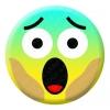 Screaming Face Emoji Button Pin Badge