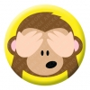 See No Evil Monkey Emoji Button Pin Badge