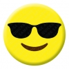 Smiling Face with Sunglasses Emoji Button Pin Badge
