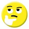 Thinking Face Emoji Button Pin Badge