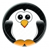 Penguin Button Pin Badge