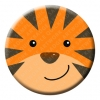 Tiger Button Pin Badge