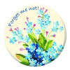 Forget me not! - Cream Button Pin Badge