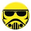 Stormtrooper Emoji Button Pin Badge