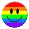 Rainbow Smiley Button Pin Badge