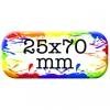 25mm x 70mm Custom Rectangle Button Pin Badges