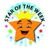 Star of the Week Stickers 35mm Round
