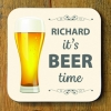 Beer Time Personalised Coaster