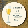 Prosecco Time Personalised Coaster