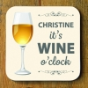 Wine O Clock Personalised Coaster