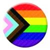 Progress Pride Button Pin Badge