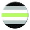 Agender Pride Button Pin Badge