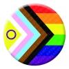 Progress Pride Intersex Button Pin Badge