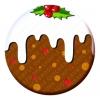 Christmas Pudding Button Pin Badge