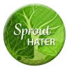 Sprout Hater Button Pin Badge